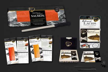 Transgourmet Seafood Verpackung Packaging Design Black Label