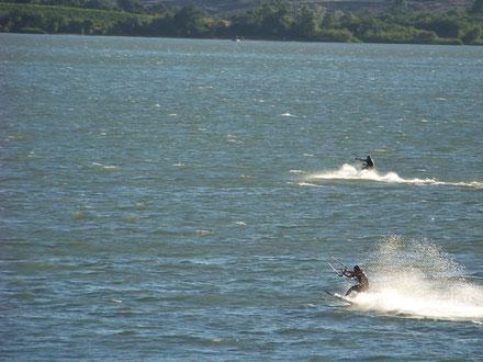 kitesurf ventileau vias plage portiragnes