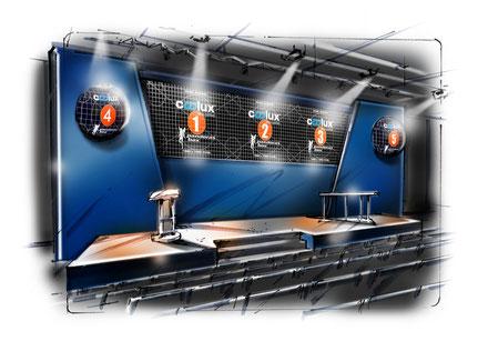 OrangeBox-Bühne