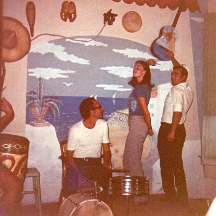 Torredembarra 1970. Die Autorin beim Versuch eines Flamencos