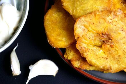 Frittierte Kochbananen.