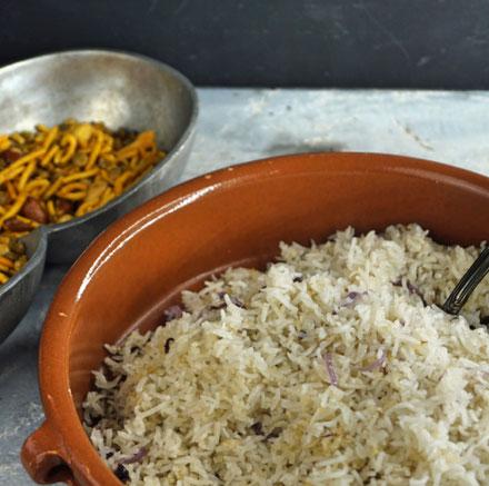 körniger Würzreis nach indischem Rezept
