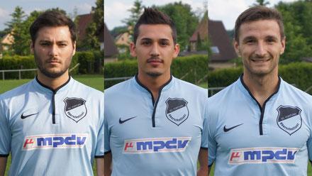 Neu im Team: Seref Özer, Kerim Zeybek und Michal Jerabek (v.l.)
