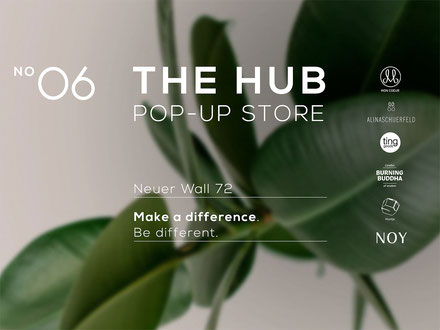 Pop-Up Store The Hub am Neuen Wall in Hamburg