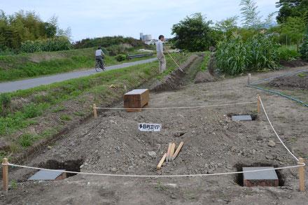 パーゴラ予定地 基礎工事完了