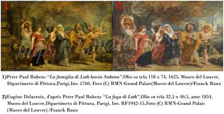 T.Follesa_Originali e copie_L'inganno della duplicità_Delacroix_Rubens_Le figlie di Loth