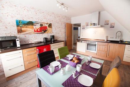 Große Küche, mit allem ausgestattet, was das Leben im Urlaub vereinfacht