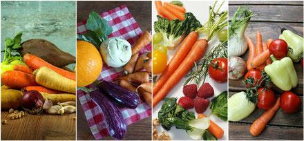 Gemüse, Möhren, Tomaten, Kohlrabi