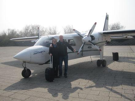 Mit dem Inselflieger nach Wangerooge