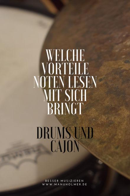 Noten zum Ausdrucken Drums Cajon Band