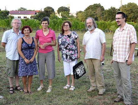 S lijeva na desno: Vlado Franjević, Rajka Poljak Franjević, Natalija Grgorinić, Ana Martinko, Zlatko Martinko i Ognjen Rađen