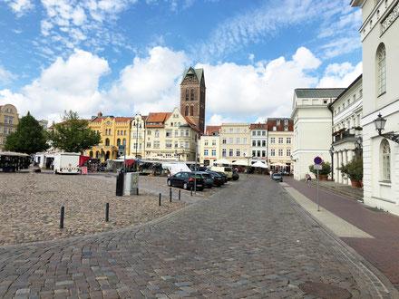 Marktplatz mit Rathaus, Wismar