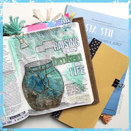 biblejournaling voorbeeld genesis 3 #zomerleesplanstastil