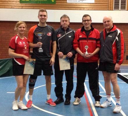 Vereinsmeister 2017: (von links) Christa Beck, Nico Beck, Kalle Simon, Johannes Arend und Wolfgang Stöber.