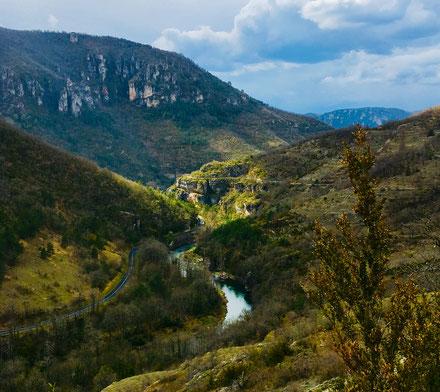 gorges-de-la-dourbie-route-acces-village-saint-veran-gite-exception-aveyron-le-colombier-saint-véran-meublé-de-tourisme-5-etoiles-vacances-à-deux-tourisme-occitanie-parc-des-grands-causses-aveyron-occitanie-france-cerdit-photo-mcg