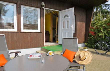 Werbefoto Ferienhaus Terrasse Außenbereich