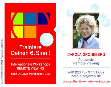 #remoteviewing #carola groneberg #workshop
