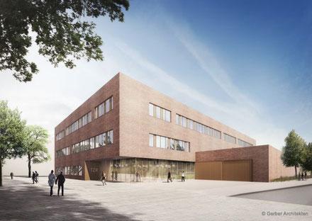 Architekturentwurf für das Resistenzforschungszentrum Berlin (TZR). © Gerber Architekten
