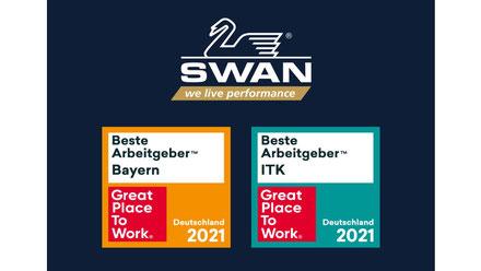 Quelle Zertifizierungs-Logo: Great Place to Work®, Bildquelle: SWAN GmbH