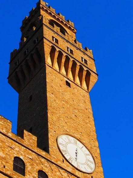 weithin sichtbar - der Turm des Palazzo Vecchio