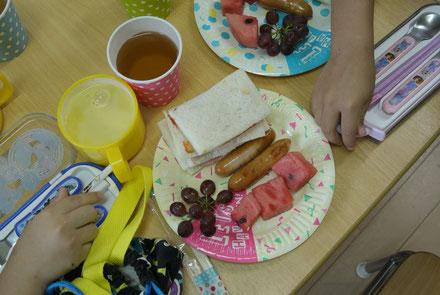子どもたちと作った朝ご飯です。