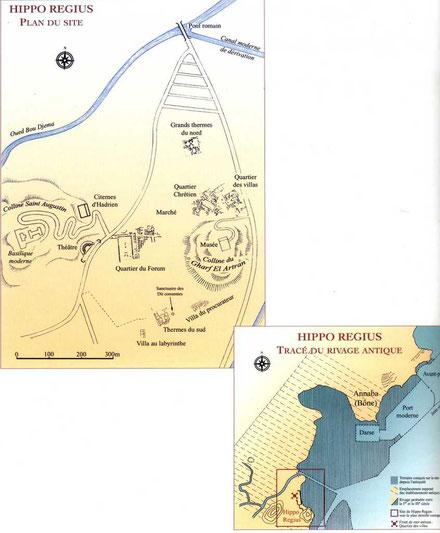 Annaba (Hippo Regius) : Plan du site