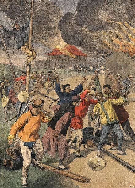 24 juin 1900. Les Boxers. Le Petit Journal, Supplément illustré, et la Chine  1890-1913, 1921-1931.