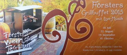 Grillbuffet im Weingut Försterhof