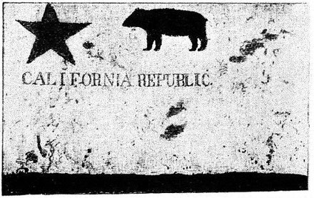 Flag of California's first attempt to secede in 1846 (Source Wikicommons)