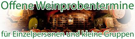 Offene Weinproben für Einzelpersonen und kleine Gruppen