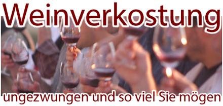 Weinverkostung und Weinprobe am Ahrweiler Marktplatz im Ahrweindepot