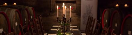 Romantische Weinprobe an der Ahr im Fasskeller bei Kerzenschein