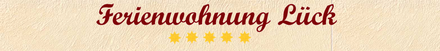 Ferienwohnung Lück in Dernau