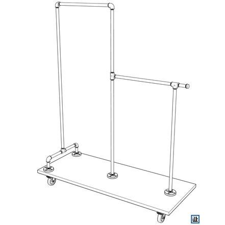 DIY Bauplan Rohrmöbel Kleiderständer