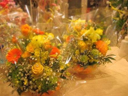 黄色オレンジ系アレンジメント