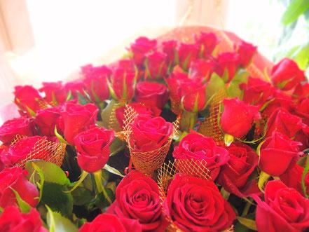 赤バラ60本