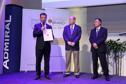 Gerhard Hrebicek, Bobby Calder, Tienan Li, Brand Global Council, ADMIRAL, ISO