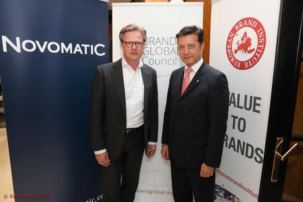 Brand Global Council 2017_Wolfgang Ebner, Novomatic AG, Gerhard Hrebicek, European Brand Institute