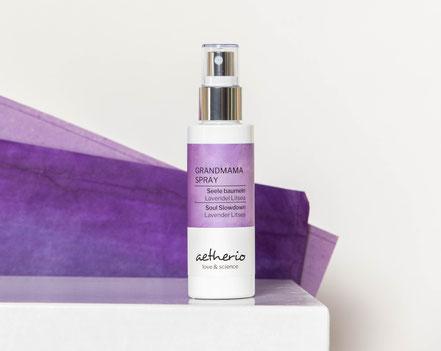 Grandmama Spray Seele baumeln nach langen Tagen mit bio Lavendel und Litsea