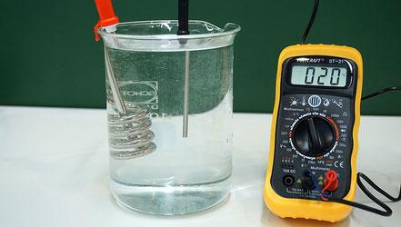 Experiment zur Bestimmung der spezifischen Wärme von Wasser