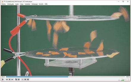 Experiment zur Demonstration der Kraftwirkung im homogenen elektrischen Feld