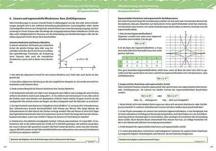 6. Lineare und exponentielle Wachstums- und Zerfallsprozesse
