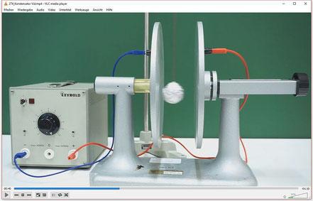 Experiment zum Demonstrieren der Speicherwirkung eines Kondensators