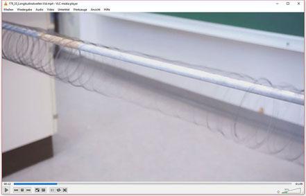 Experiment zu Demonstration von Longitudinalwellen