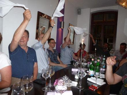 50. Geburtstag mit Freunden im Restaurant