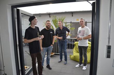 Matthias Schmied und Divo Santino bei der Vernissage in Koblenz