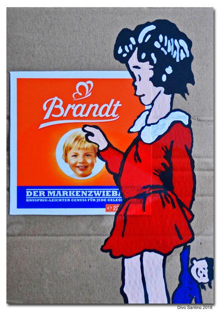#zwieback #brandt #mädchen #kinder #divosantino #2018 #divosantino #collage #painting #girl #child #kids #eat #gebäck