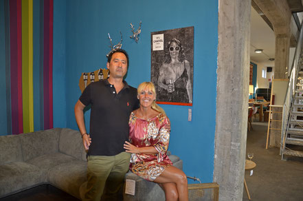 Thomas Moelter mit Ehefrau bei der Vernissage in Koblenz