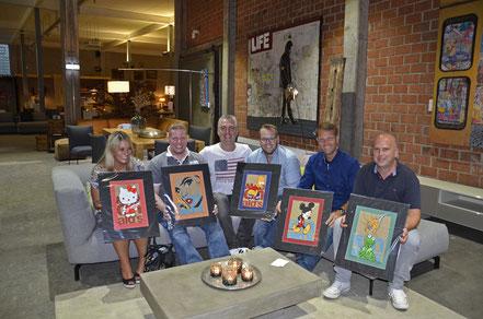 Die Gewinner der Pop Art Verlosung für das Kinderhospiz Koblenz