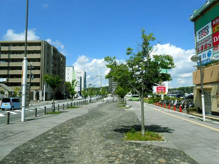 (2)2駅西出口から精華町役場に向かう広い歩道